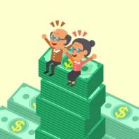 seniors-on-stack-of-money